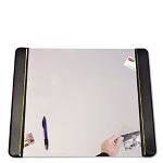 "Artistic Office Products Black Classic American Desk Pad, Leatherette with Clear Protector Sheet, 24"" x 19"""