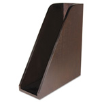 Artistic Office Products Curved Magazine File, Bamboo, 3 1/4 x 10 x 11 1/2, Espresso Brown