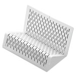 Artistic Office Products Urban Collection Punched Metal Business Card Holder, Holds 50 2 x 3 1/2, White