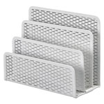 Artistic Office Products Urban Collection Punched Metal Letter Sorter, 6 1/2 x 3 1/4 x 5 1/2, White