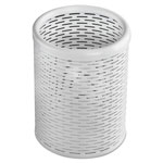 Artistic Office Products Urban Collection Punched Metal Pencil Cup, 3 1/2 x 4 1/2, White