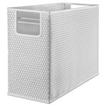 Artistic Office Products Urban Collection Punched Metal Desktop File, 13 x 5 3/4 x 10 3/4, White