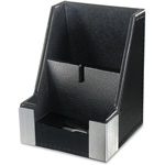 Artistic Office Products Architect Line, Cell Phone Holder, 2-Tone, Leather-Like, BK/AL