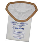 Janitized Vacuum Filter Bags Designed to Fit ProTeam Super Coach Pro 6/GoFree Pro, 10/PK