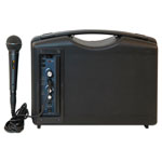 Amplivox Bluetooth Audio Portable Buddy with Wired Mic, 50W, Black