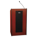 "Amplivox Mahogany Adjustable Presidential Plus Lectern, 25 1/2""w x 20 1/2""d x 36"" to 44""h"