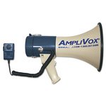 Amplivox MightyMeg Piezo Dynamic Megaphone with Detachable Microphone, 25w, 1 Mile Range