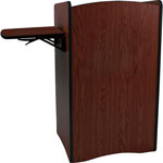 "Amplivox Mobile Computer Lectern, Multimedia, 44"" x 25.5"" x 44"", AST"