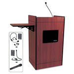 Amplivox Multimedia Smart Computer Lectern, Wireless, 25-1/2w x 20-1/4d x 43-1/2h, Mhgny