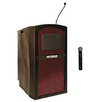 Amplivox Pinnacle Multimedia Lectern, 26w x 25d x 46h, Mahogany