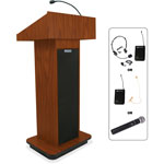 "Amplivox Executive Sound, Column Lectern, Wireless, 43"" x 21"" x 15"", MOK"