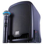 Amplivox Bluetooth Wireless Portable Media Player PA System, 36W, Black