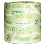 "Green Heritage™ 125 1-Ply Bathroom Tissue, 4.5"" x 3.8"""