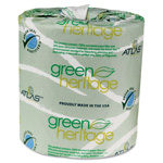 "Green Heritage™ 235 2-Ply Bathroom Tissue, 4.5"" x 3.5"""
