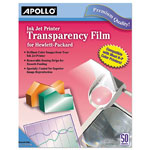 Apollo® Inkjet Printer Transparency Film, Clear, 50/Box