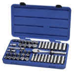 "Armstrong Tools 49 Piece 1/2"" Drive Metric/SAE Socket Set"