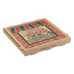 "ARVCO Containers Corrugated Pizza Boxes, 14""x14""x1 3/4"", Kraft"