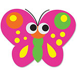 Ashley Butterly Magnetic Eraser, Multi