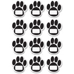 Ashley Design Dry-Erase Magnets, Paws, 12 Pc, Black