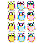 Ashley Owls Dry Erase Magnets, 12pc, Multi