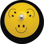 "Ashley Call Bell, Smile Face, 3""Wx3""Lx2-1/4""H, Yellow/Black"