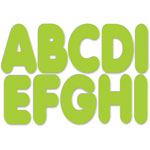 "Ashley Die-Cut Magnetic Letters, 2-3/4"", Lime Green"
