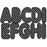 Ashley Die-Cut Magnetic Letters, White Dots/Black