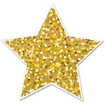 "Ashley Decorative Magnetic Stars, 3"", 12Pc, Gold"