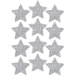 "Ashley Decorative Magnetic Stars, 3"", 12pc, Silver"