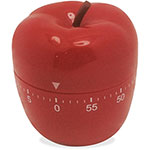 Ashley Apple-Shaped Timer, 60 Min/Alarm, Red
