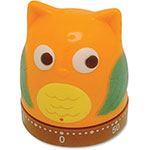 Ashley Owl-Shapped Timer, 60Min/Alarm, Multi