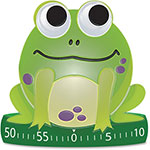 Ashley Frog-Shaped Timer, 60 Min/Alarm, Green