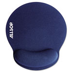 "Allsop Memory Foam Mouse Pad with Wrist Rest, Blue, 7 1/4"" x 8 1/4"""