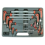 Astro Pneumatic 9 Piece SAE/Metric Hex Key Wrench Set