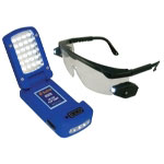 Astro Pneumatic 28 LED Flip Light with LED Lighted Safety Glasses