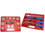 Astro Pneumatic 11 PIece Disc Brake Set and Caliper Service Tool Kit with 8 PIece Professional Brake Tool Set