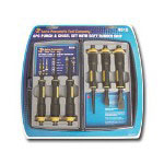 Astro Pneumatic 6 Piece Large Punch and Chisel Set w/Soft Rubber Grips