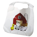 Atlantis Plastics Disposable Child-Size Poly Bibs, Zoo/Farm Pattern