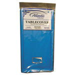 "Atlantis Plastics Plastic Table Cover, 54""x108"" Rectangle, Blue"