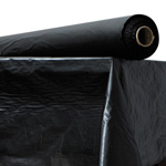 "Atlantis Plastics Plastic Table Cover, 40""x300' Roll, Black"