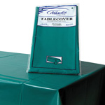 "Atlantis Plastics Plastic Table Cover, 54"" x 108"", Hunter Green"
