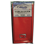"Atlantis Plastics Plastic Table Cover, 54"" x 108"", Red"