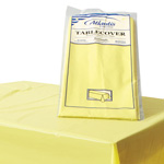 "Atlantis Plastics Plastic Table Cover, 54"" x 108"", Yellow"