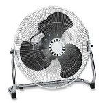 "Atlantic Breeze 44554 Chrome 3-speed 18"" Floor Fan, 18"" w/90 Degree Tilt, 23-3/4"" x 8-1/2"" x 22"""