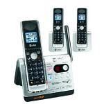 AT&T DECT 6.0 Three Handset Bluetooth Cordless Telephone System with Digital Answering System
