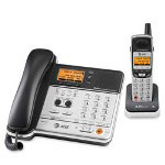 AT&T Telephone, w/Answering Sys., w/1 Handset, 5.8GHz, 2/Line, Black/Silver
