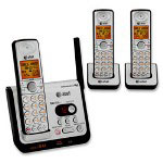 Advanced American Telephone Phone System 6.0, w/Answering Device/3 Handsets, Black/Silver