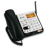 Advanced American Telephone Phone System 6.0, w/Answering System, Cordless, Black/Silver