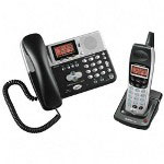 AT&T EP5969 2 Line Phone with 4 Line LCD Display, Caller ID/Call Waiting, Black/Silver