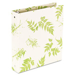 "Aurora 100% Recycled Round Ring Binder, 1"" Capacity, Bamboo Pattern"